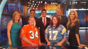 The Fantasy Football Now Crew let us sit at the desk.
