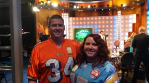 My beautiful wife and I on the set of #FFNow.